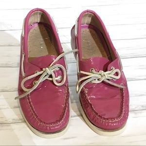 Sperry Topsider Women's Pink Boat Shoes 7.5